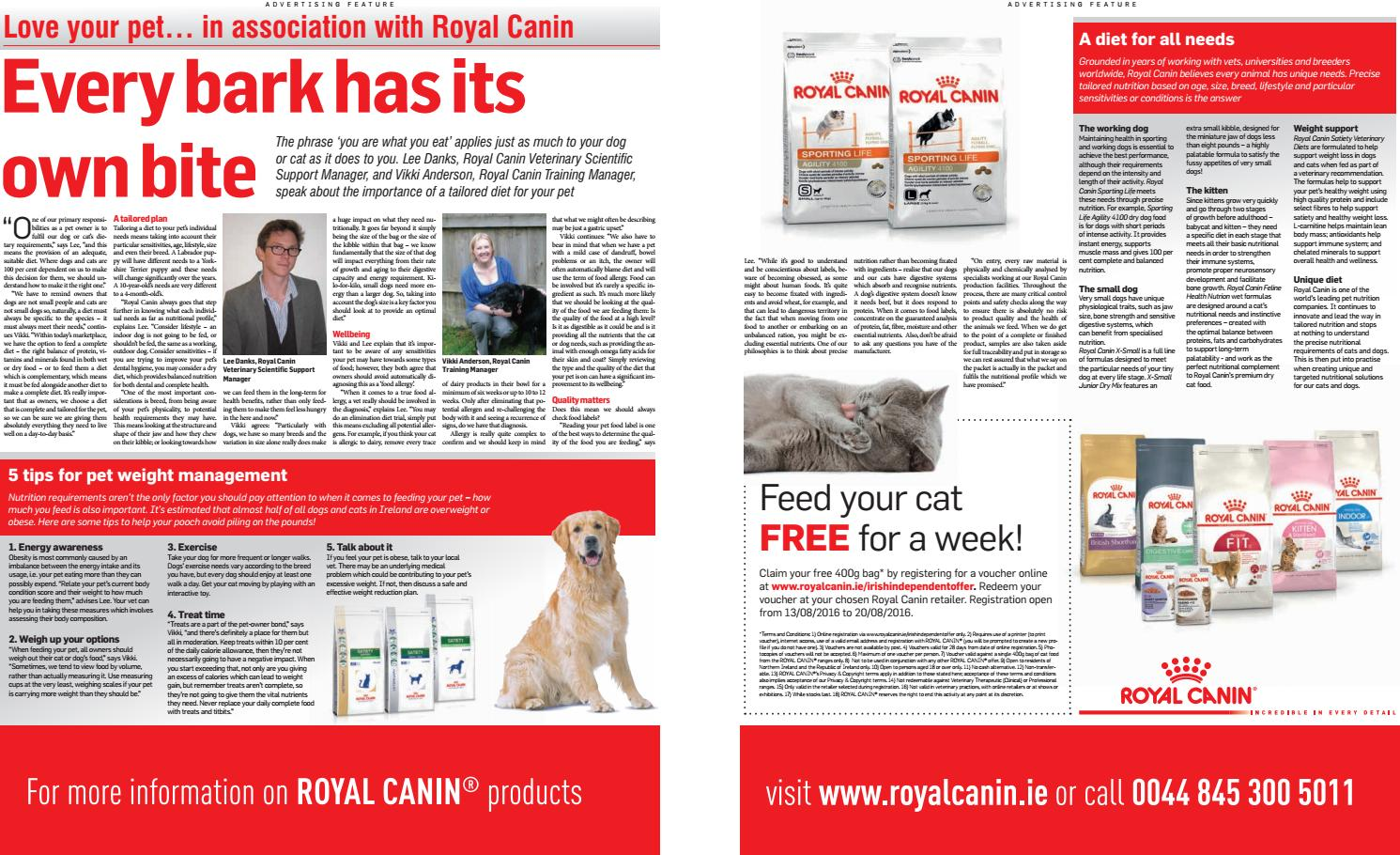 Love Your Pet in association with Royal Canin by Clodagh