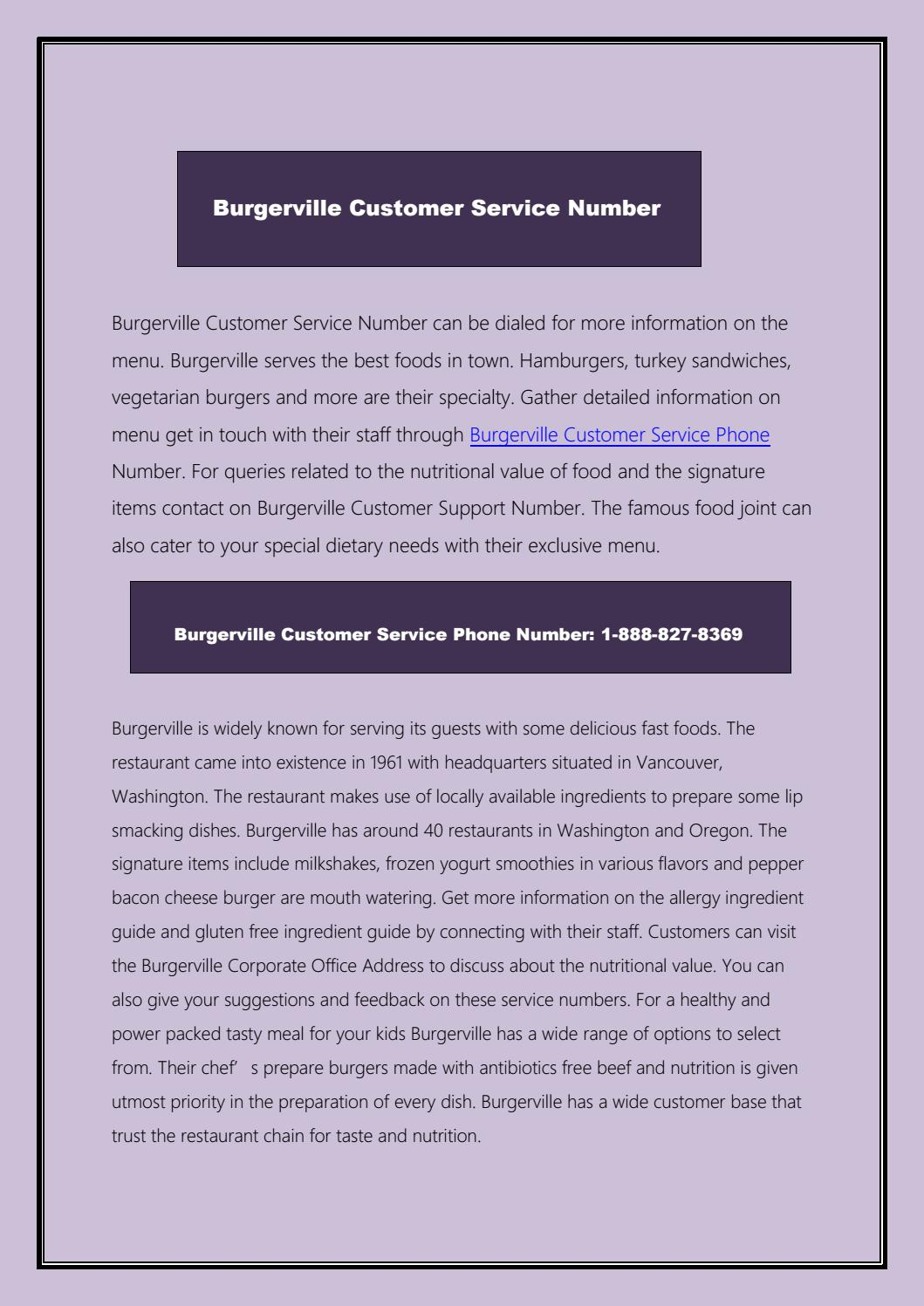Order your Food From Burgerville by customernumber - issuu