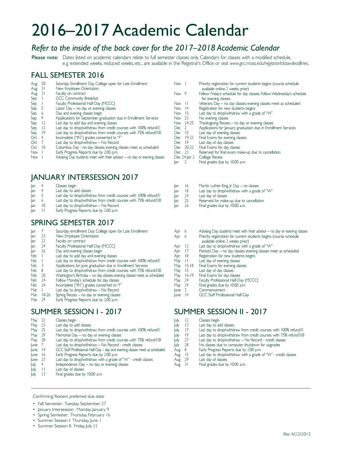 2016 17 GCC Academic Catalog by Greenfield Community College