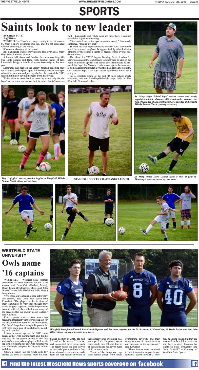 Friday, August 26, 2016 by The Westfield News - issuu