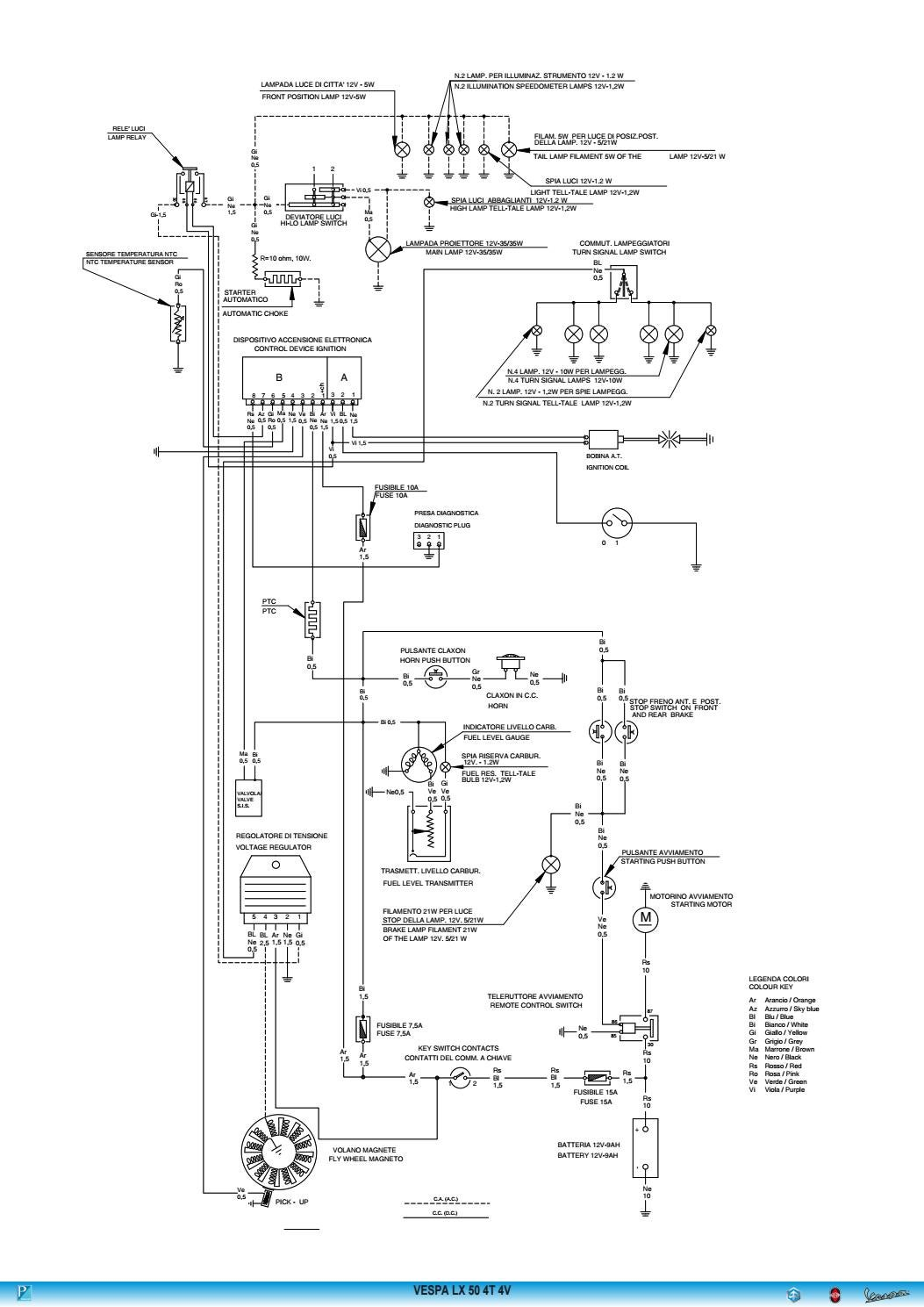 schematic to schematic wiring diagram vespa lx 50 4 valve wiring diagram by duarte grilo - issuu vespa lx150 schematic wiring #10