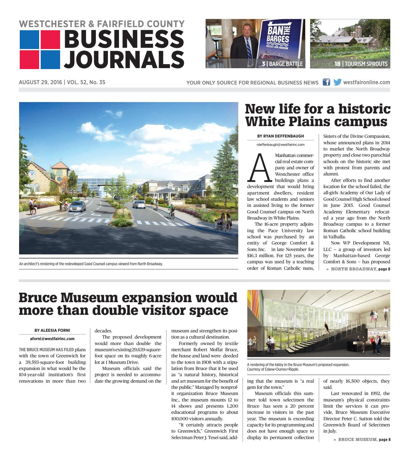 Westchester Fairfield County Business Journals 082916 By Wag