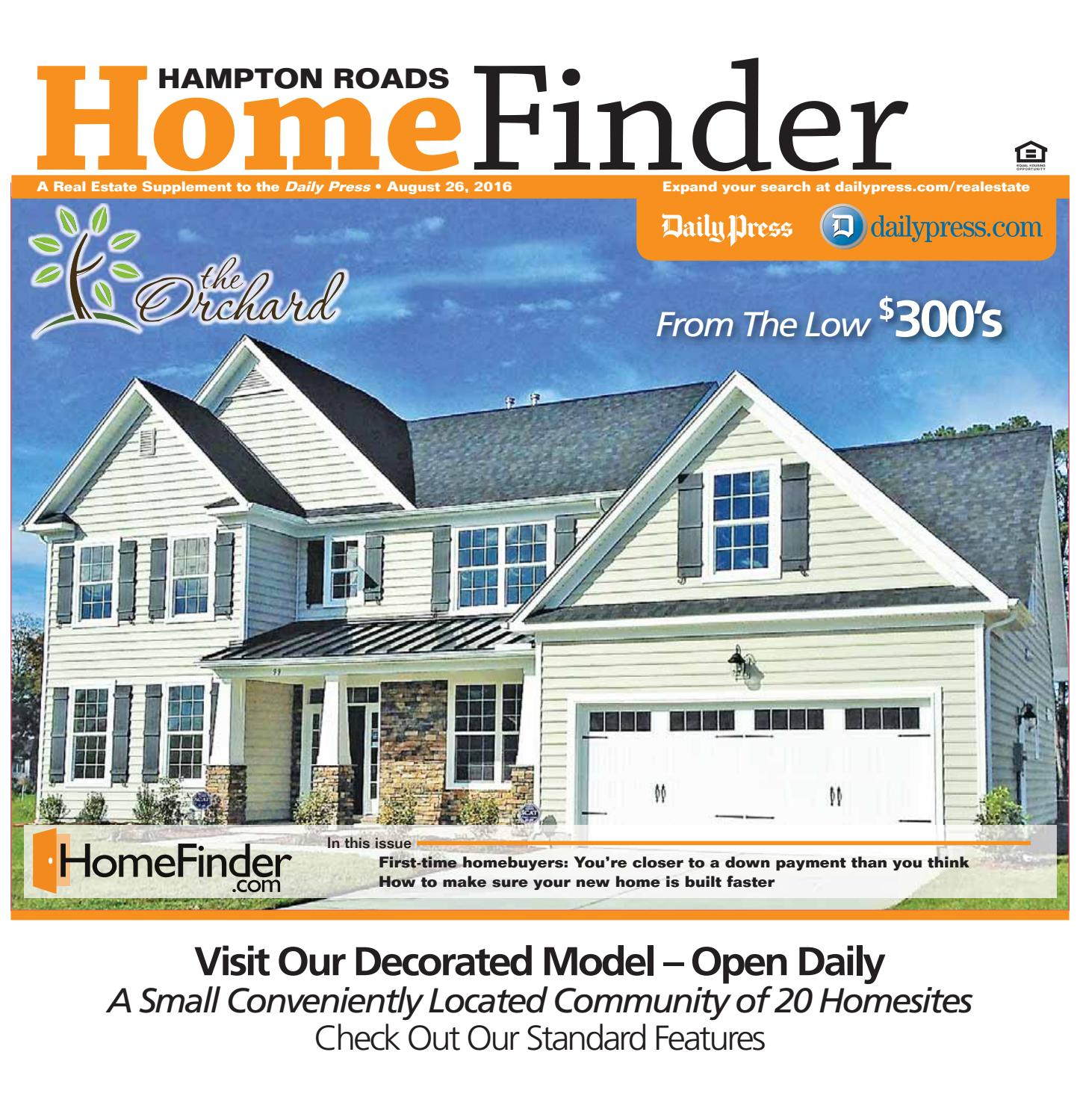 Home Finder For Rent: August 26, 2016 By Daily Press Media Group