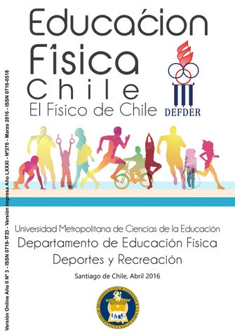 Revista Educación Física Chile 2016 By Umce Issuu