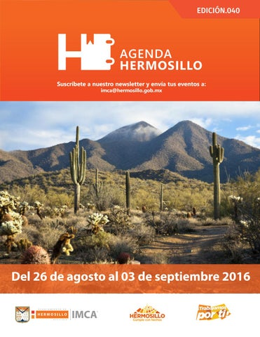 "Cover of ""Agenda Hermosillo 26agosto2016"""