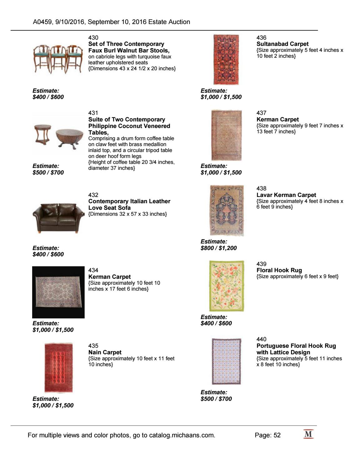 September Estate Auction Catalog By Michaans Auctions