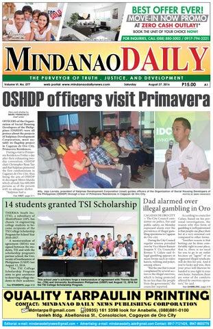Mindanao Daily (August 27, 2016) by Mindanao Daily News - issuu