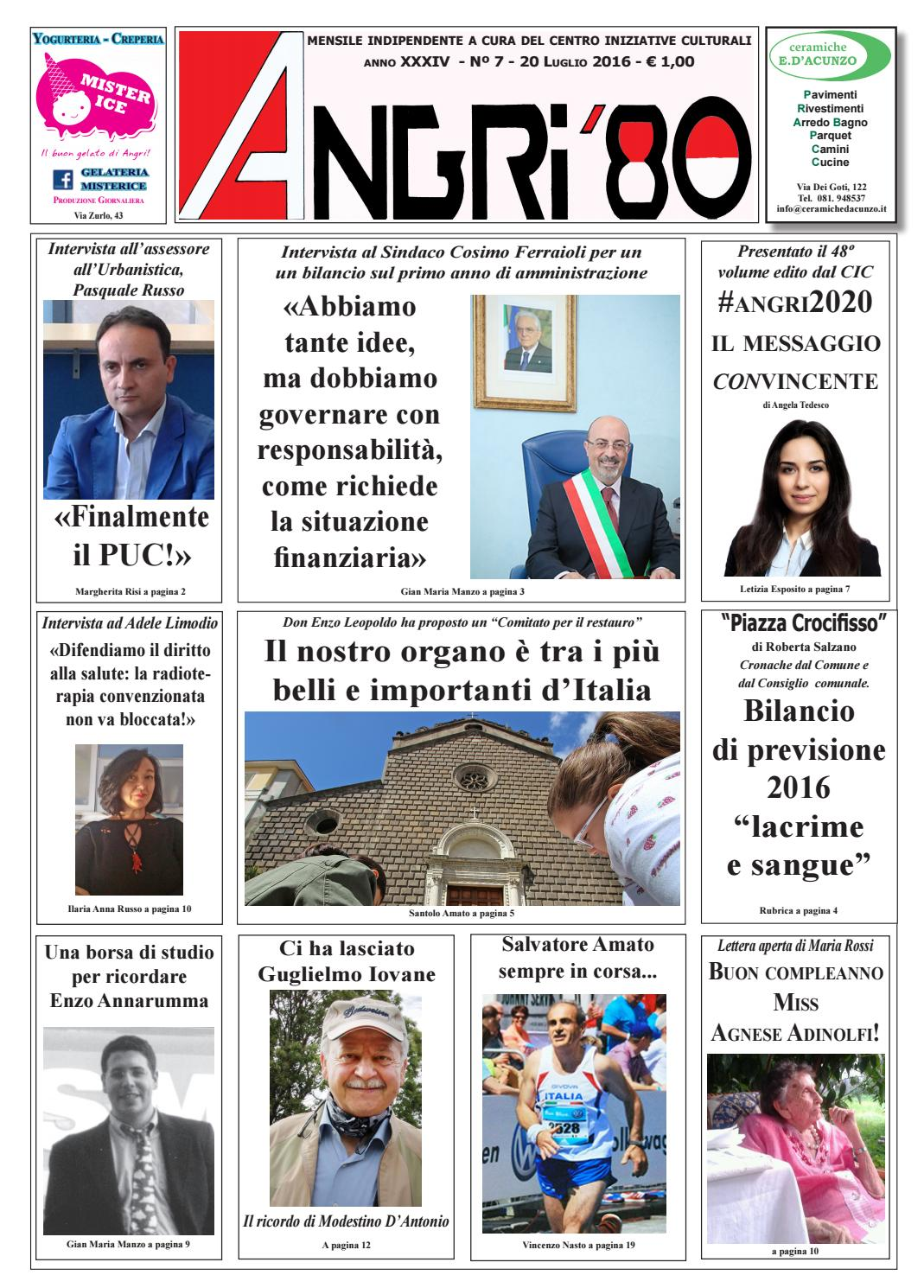 angri 80 luglio 2016 by lombardi antonio - issuu - Arredo Bagno Angri