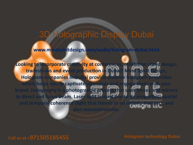 Hologram technology dubai hologram companies dubai by