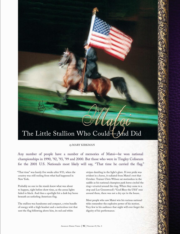 45f096b4f72e Arabian Horse Times - Volume 47 No 3 by Arabian Horse Times - issuu