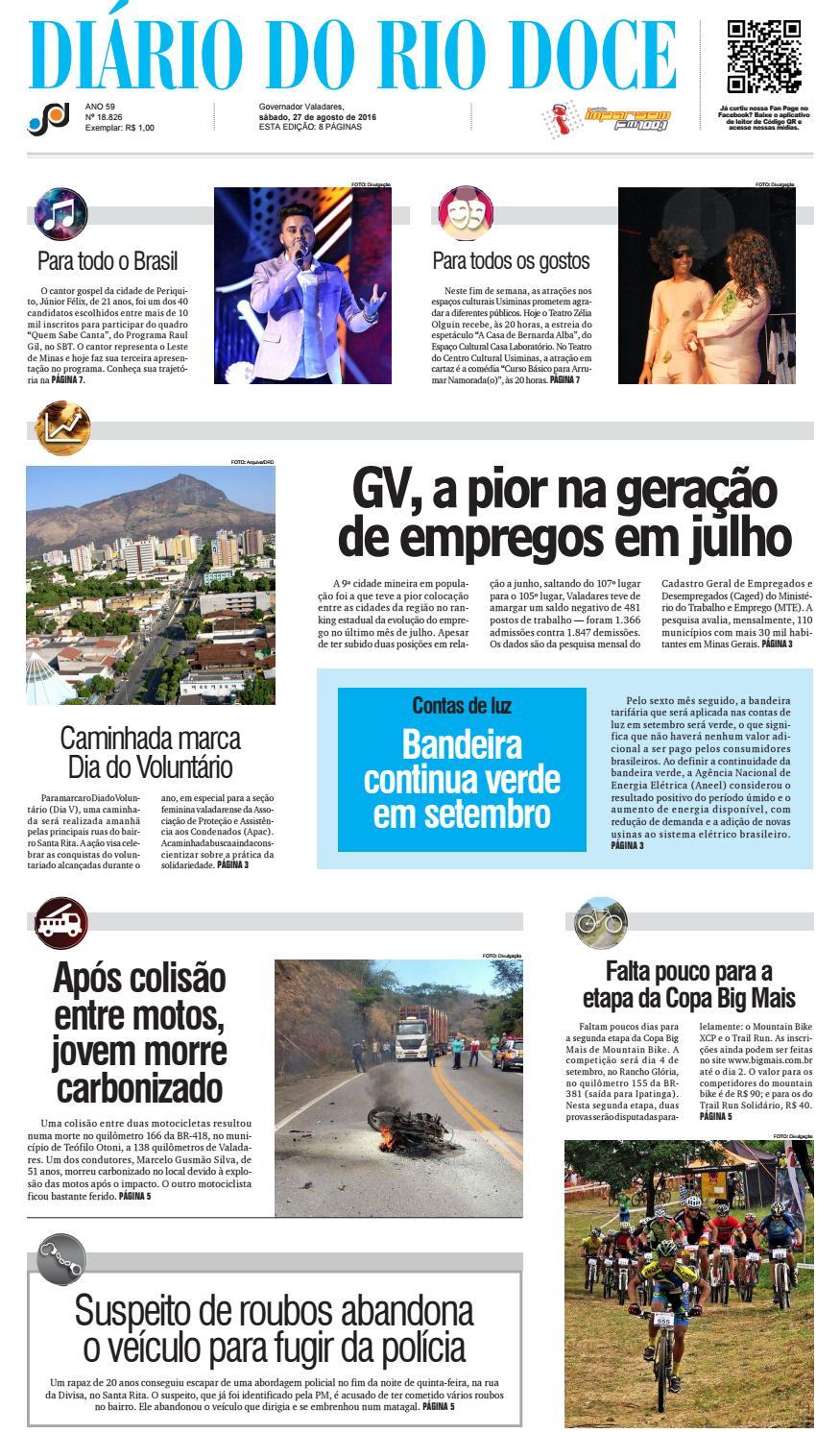 Diário do Rio Doce - Edição de 27 08 2016 by Diário do Rio Doce - issuu b3c2e098eb132