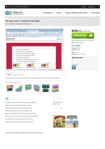 650 Ebay Auction Templates Resell Rights By Rebeccamoore Issuu