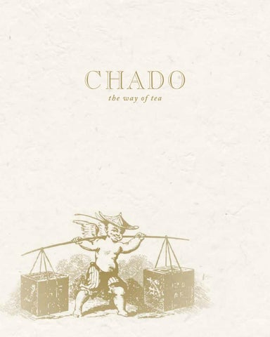 Chado Tea Menu by International Tea Importers - issuu