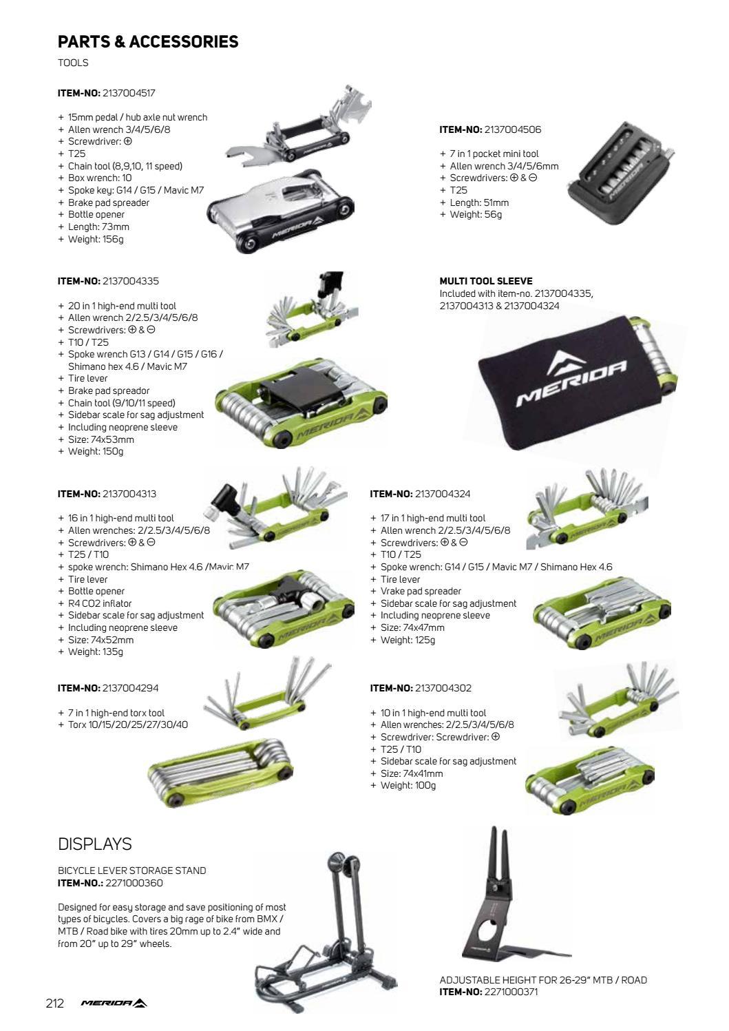 17 Multi Tool Bicycle Bike Allen Hex Keys Screwdriver Chain Link Tool MTB ROAD