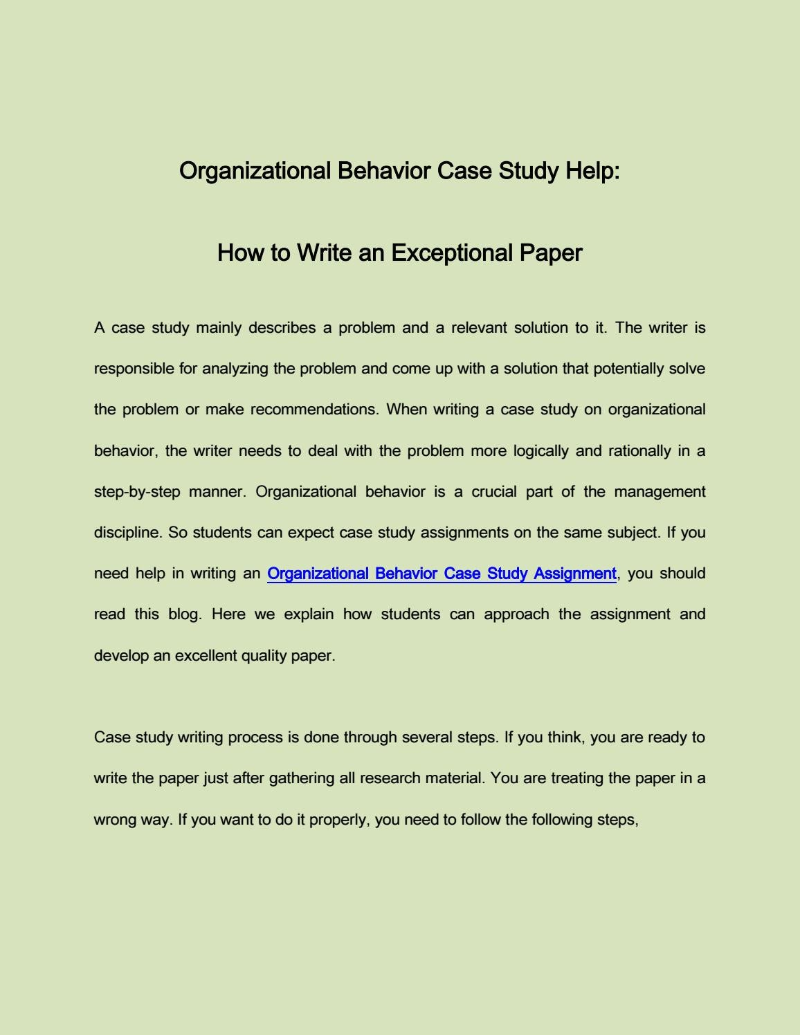 how to write a case study assignment