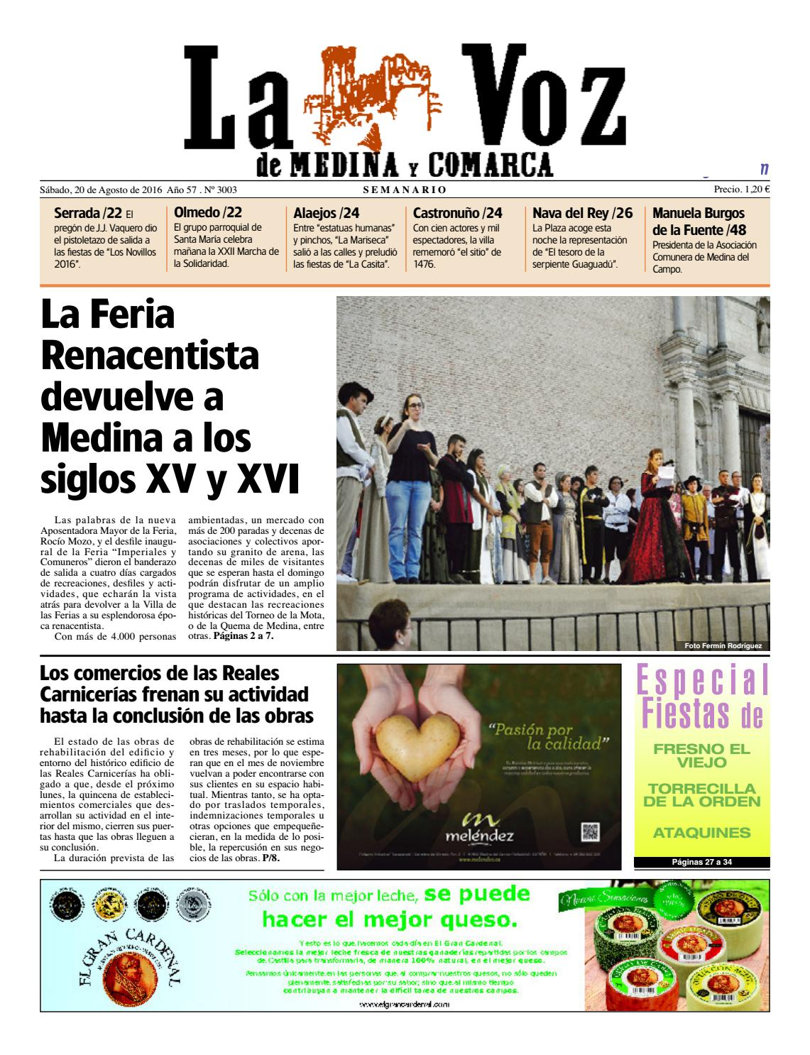 La Voz de Medina 160820 by La Voz de Medina - issuu