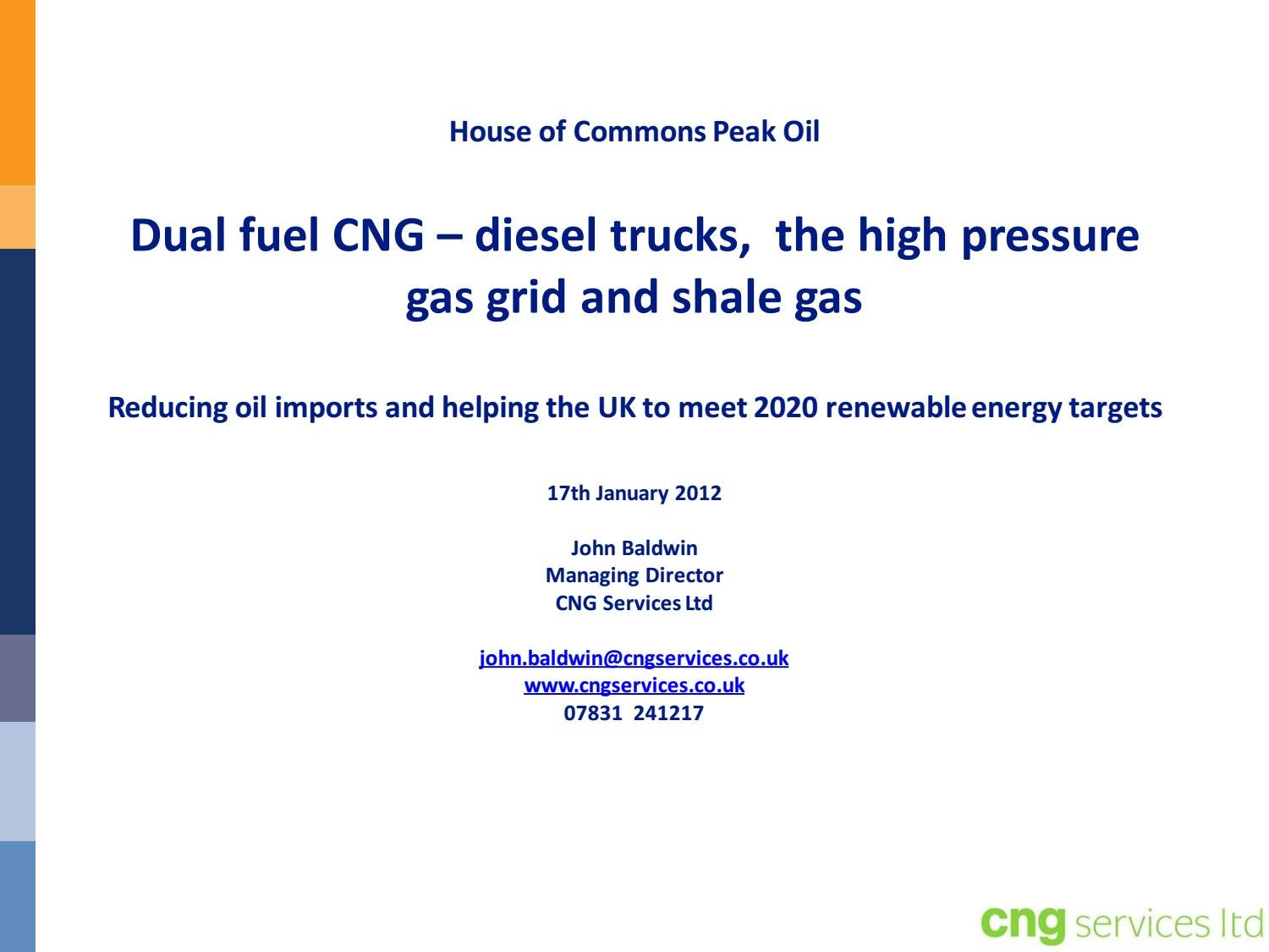All Party Parliamentary Group on Peak Oil and Gas - Shale Gas and the Road  Fuel Market