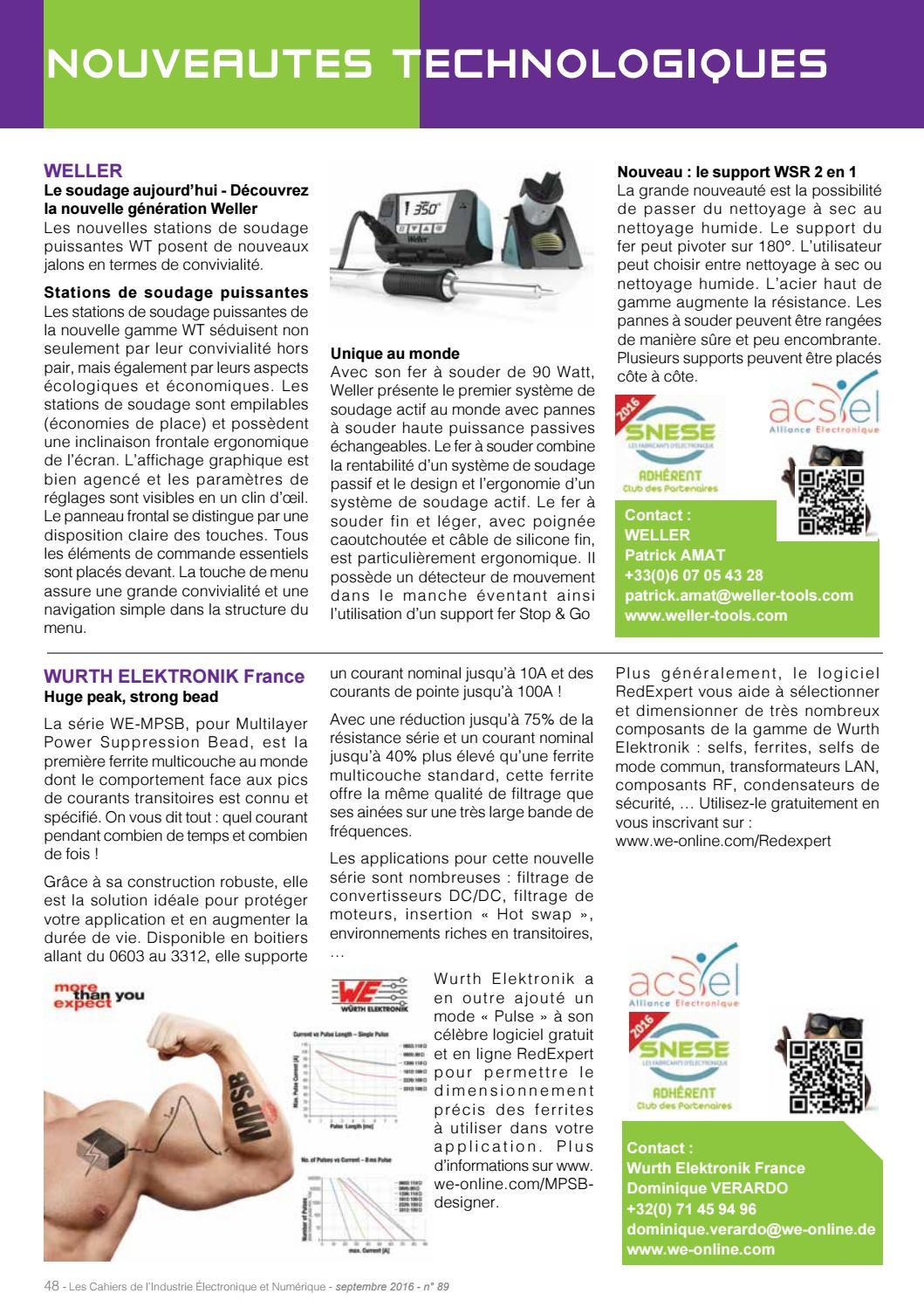 LES CAHIERS DE L'INDUSTRIE ELECTRONIQUE & NUMERIQUE N° 89 by
