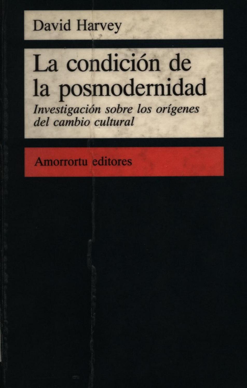 La condición de la posmodernidad by Gustavo - issuu