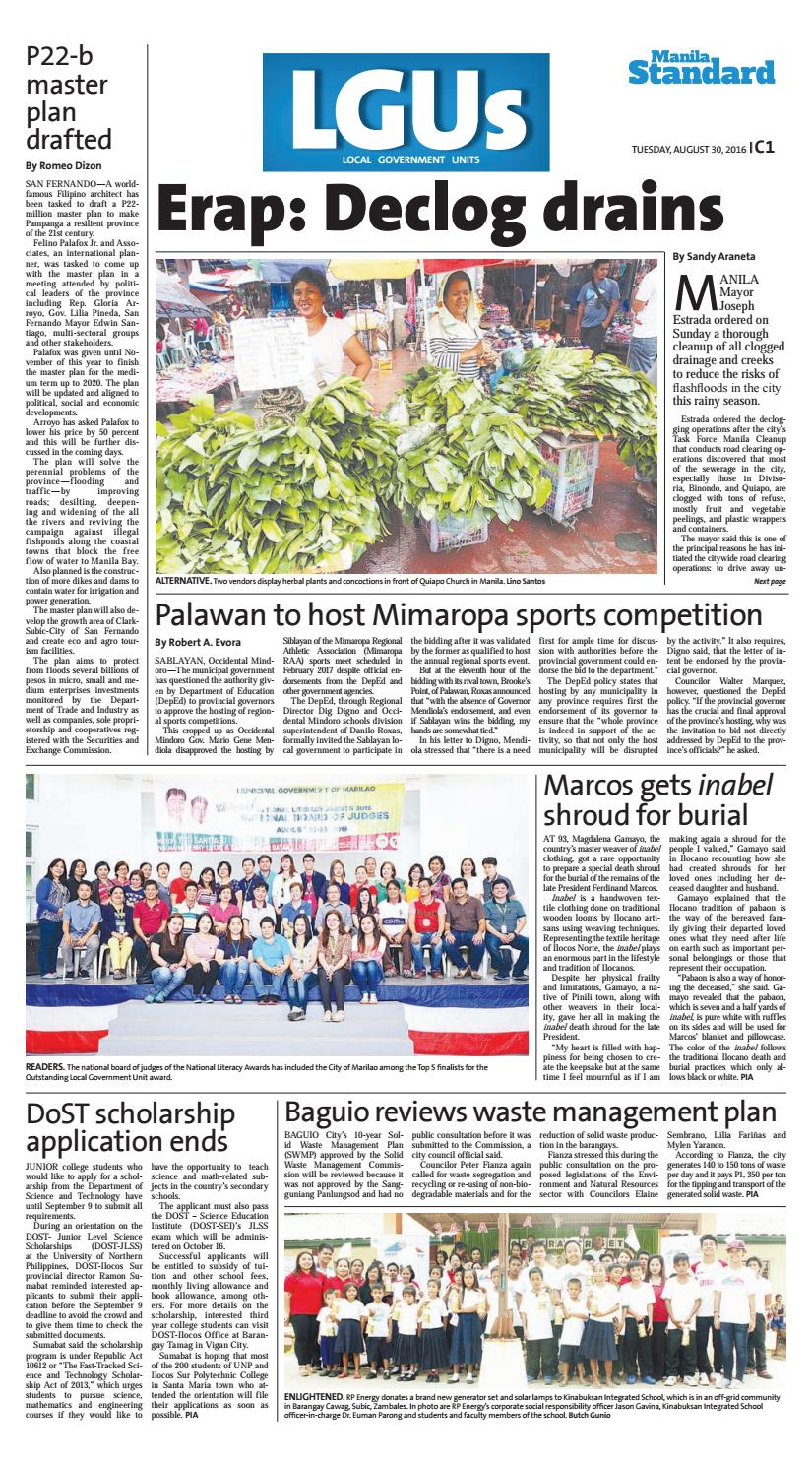 Manila Standard - 2016 August 30 - Tuesday by Manila