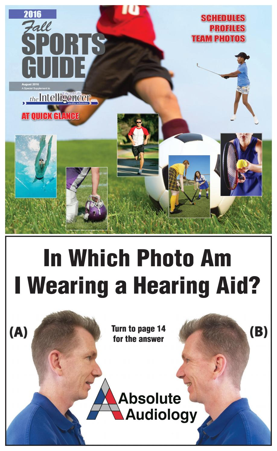 Intelligencer Fall Sports Guide 2016 By Edwardsville Publishing Issuu