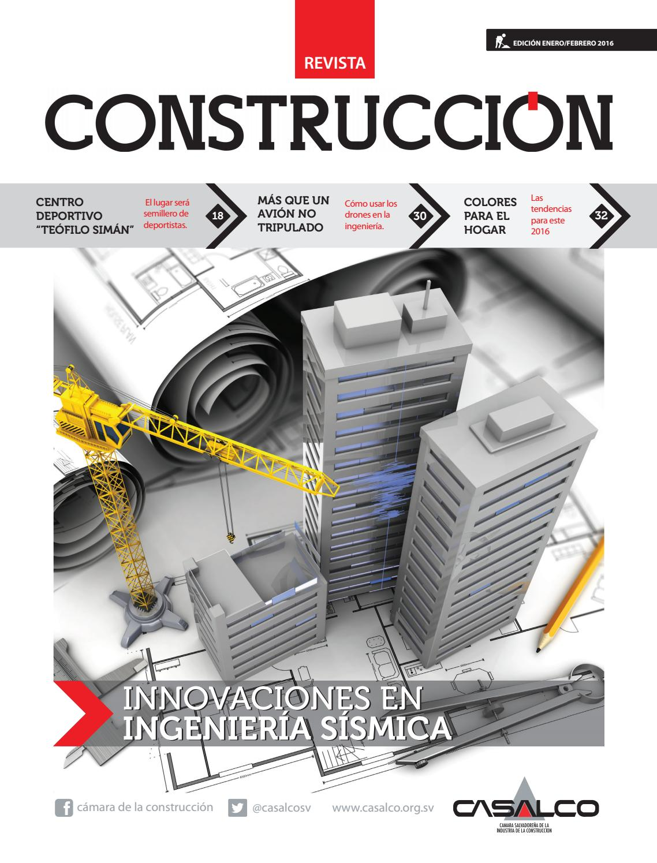 Revista Construcci N Edici N Enero Febrero 2016 By C Mara De La  # Muebles Teofilo Aguilar De Campoo