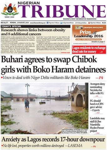 29th August 2016 By Nigerian Tribune Issuu