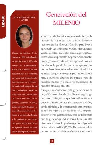 Page 22 of Ensayo- Generación del Milenio