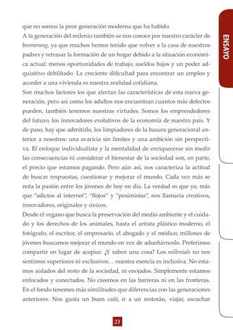 Page 23 of Ensayo- Generación del Milenio