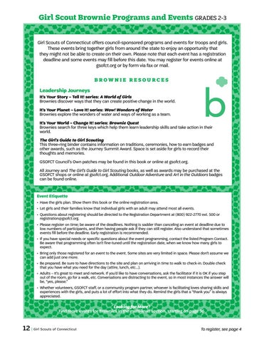 gsofct GSOFCT 2016-17 Program Resource Guide by Girl Scouts of Connecticut ...