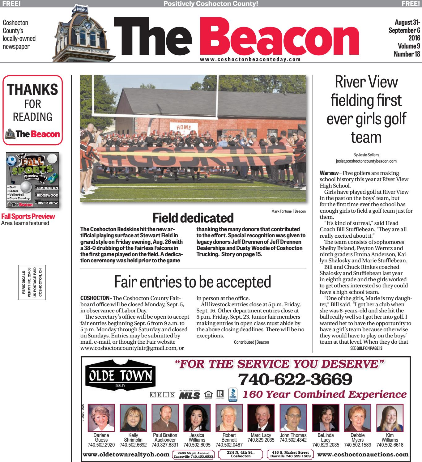 August 31 2016 Coshocton County Beacon By The