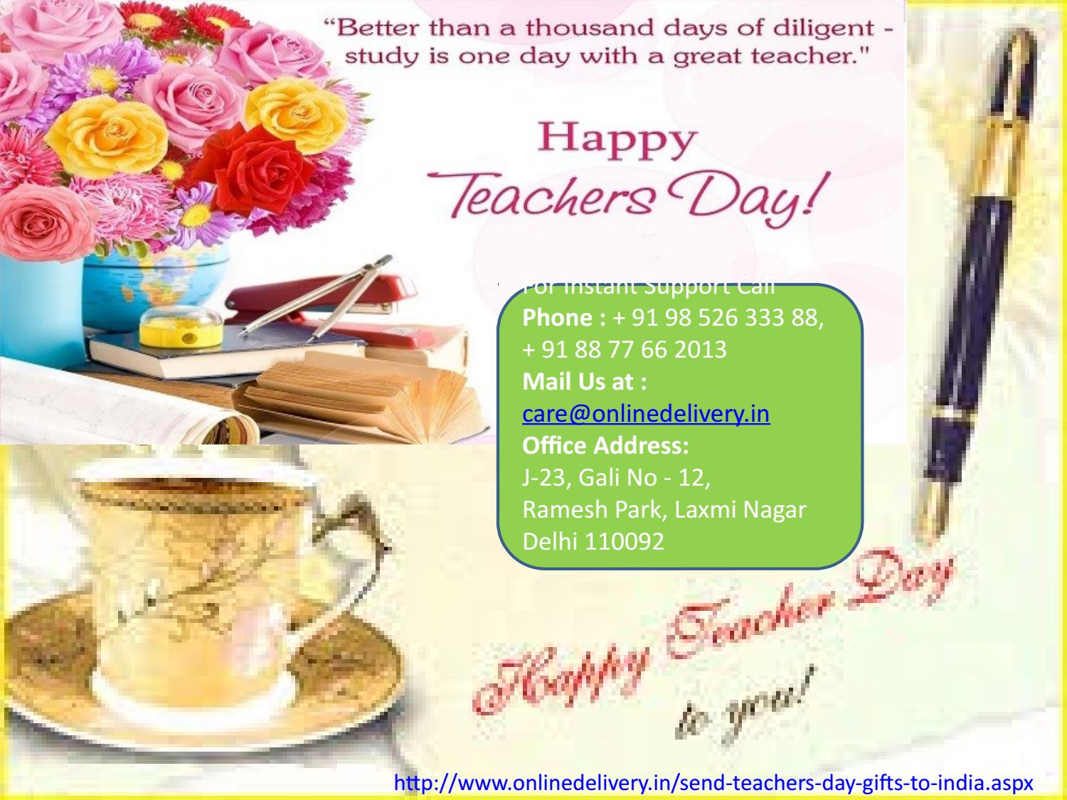 Teachers day Gifts delivery to India by Sanjay Kumar - issuu