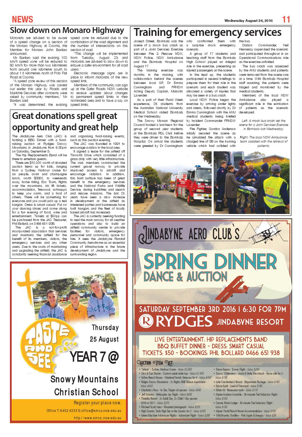 The Monaro Post August 24, 2016