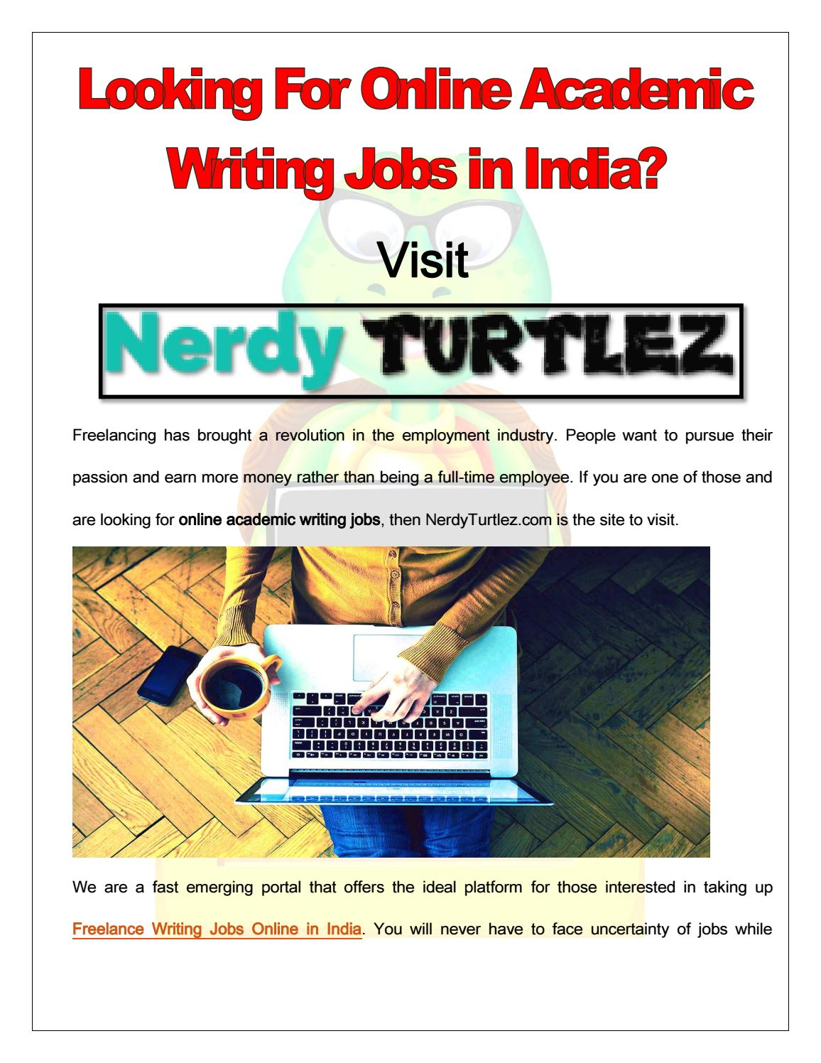 Online academic writers jobs