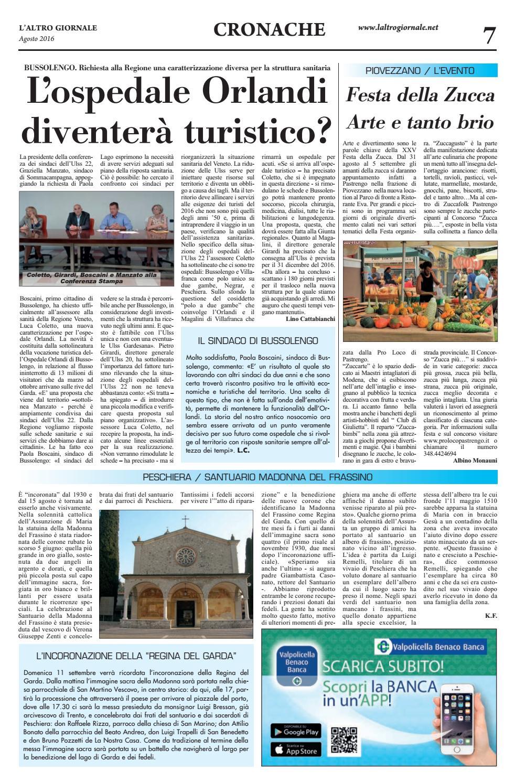 Vivaio Peschiera Del Garda l'altro giornale garda baldo agosto 2016 by ischarlie - issuu