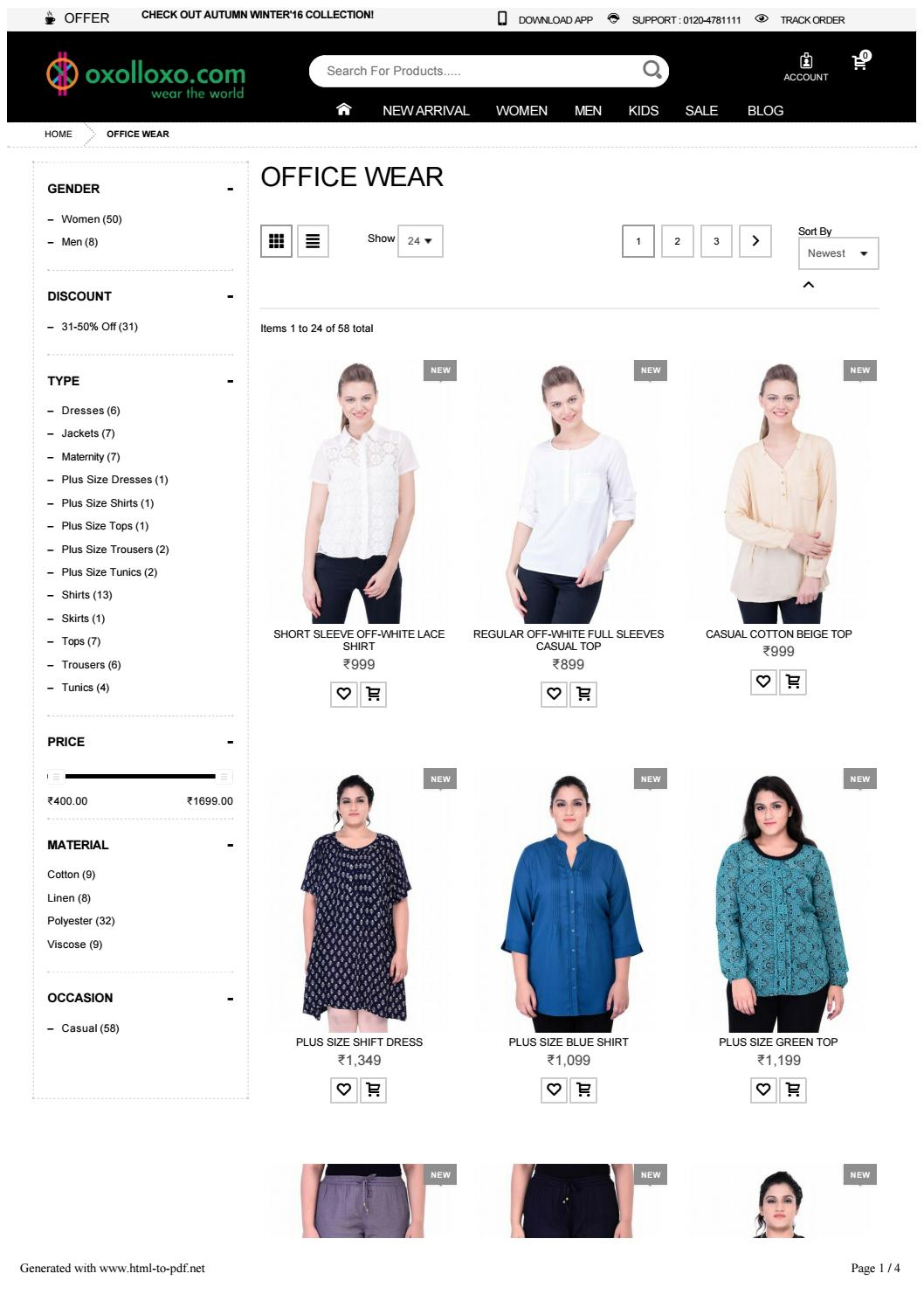 Online Office Wear Ping