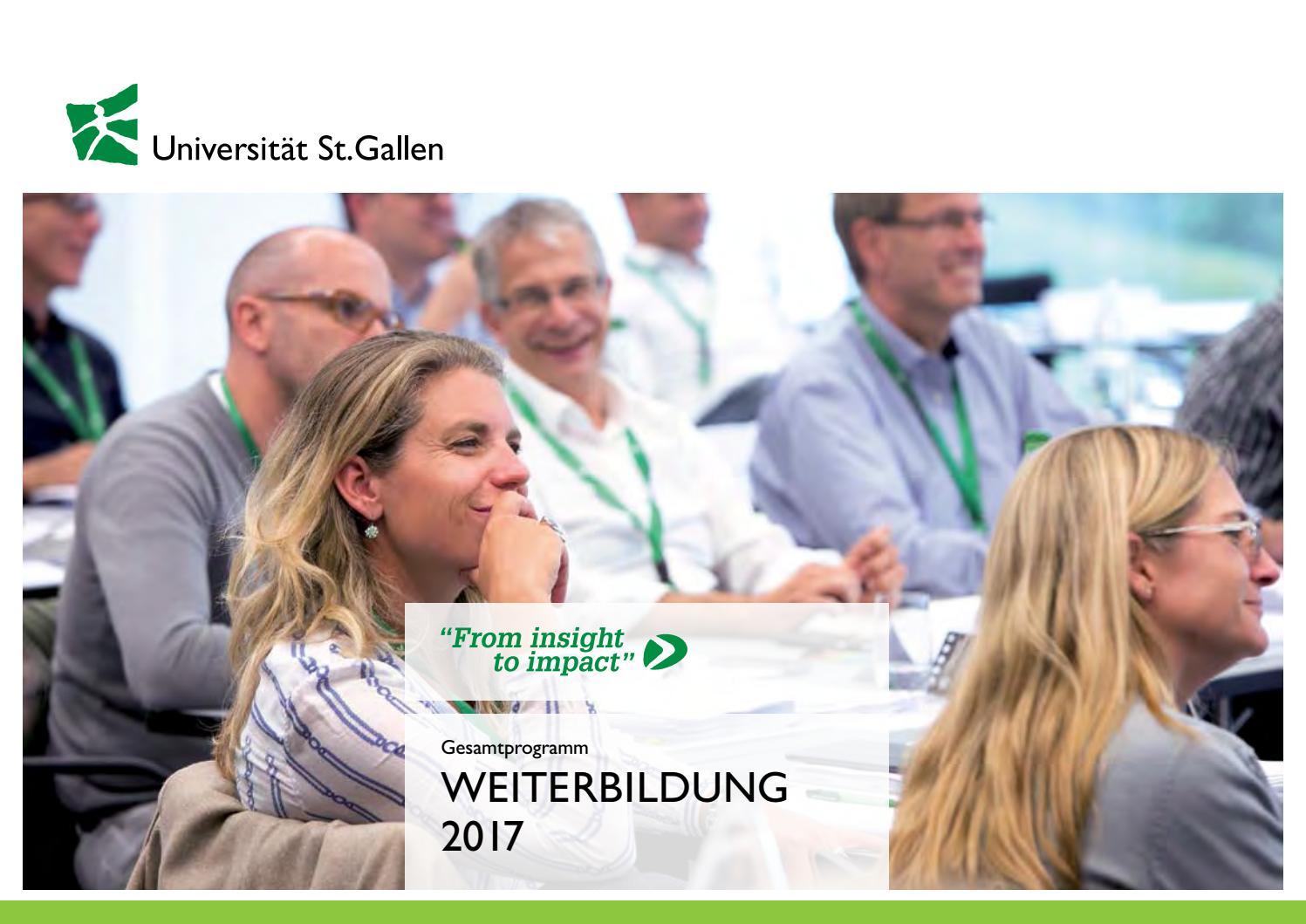 Gesamtprogramm Weiterbildung Universität St.Gallen 2017 by Executive ...