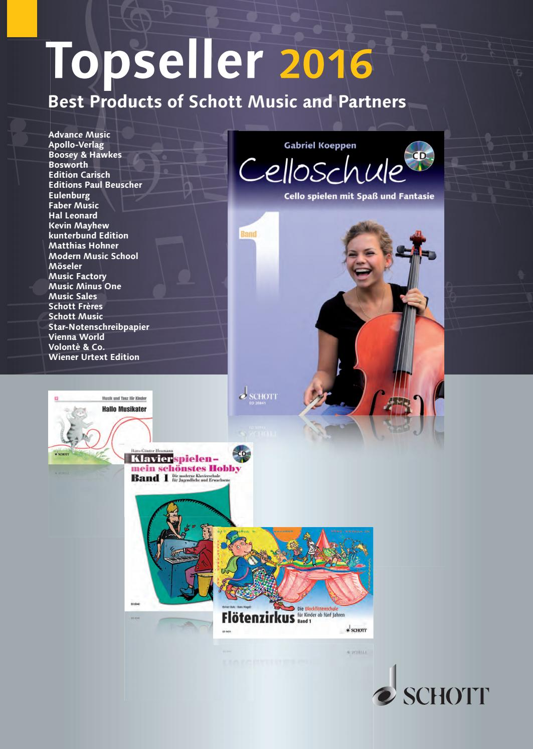 Kat 205 99 topseller 2016 web by Schott Music - issuu