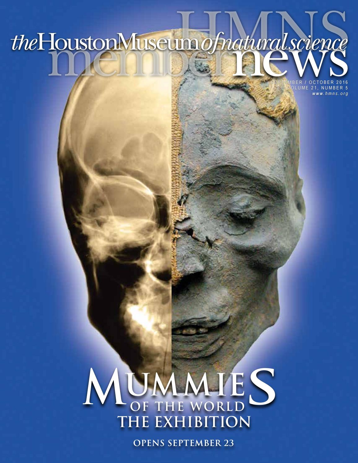 HMNS Museum News Sept/Oct 2016 by Houston Museum of Natural ...