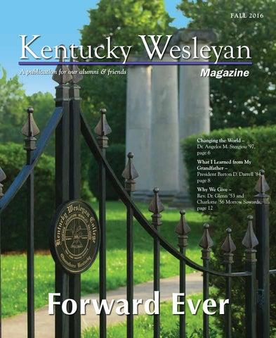 Kentucky Wesleyan Magazine Fall 2016