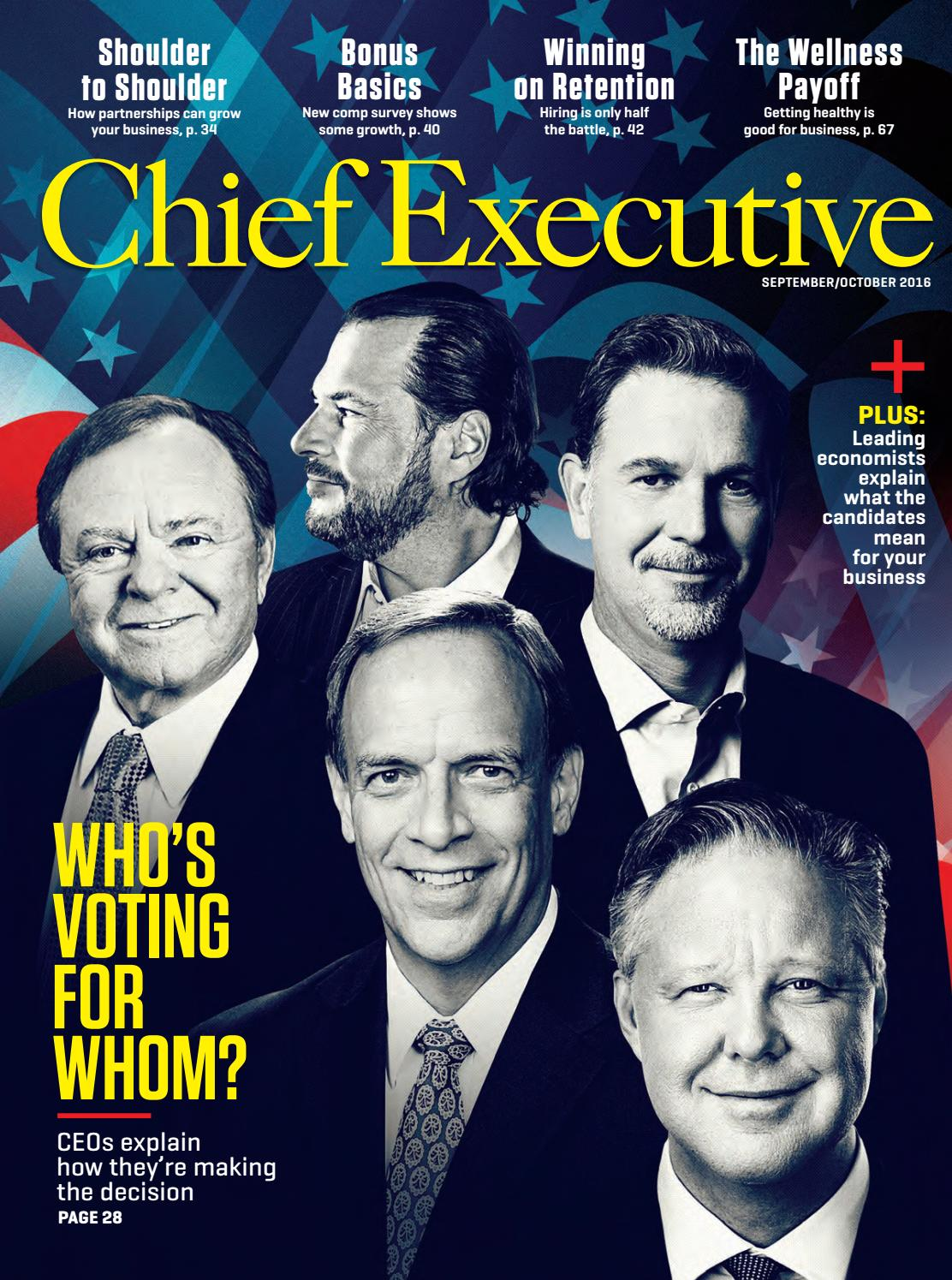 September October 2016 Chief Executive Magazine By Chief Executive