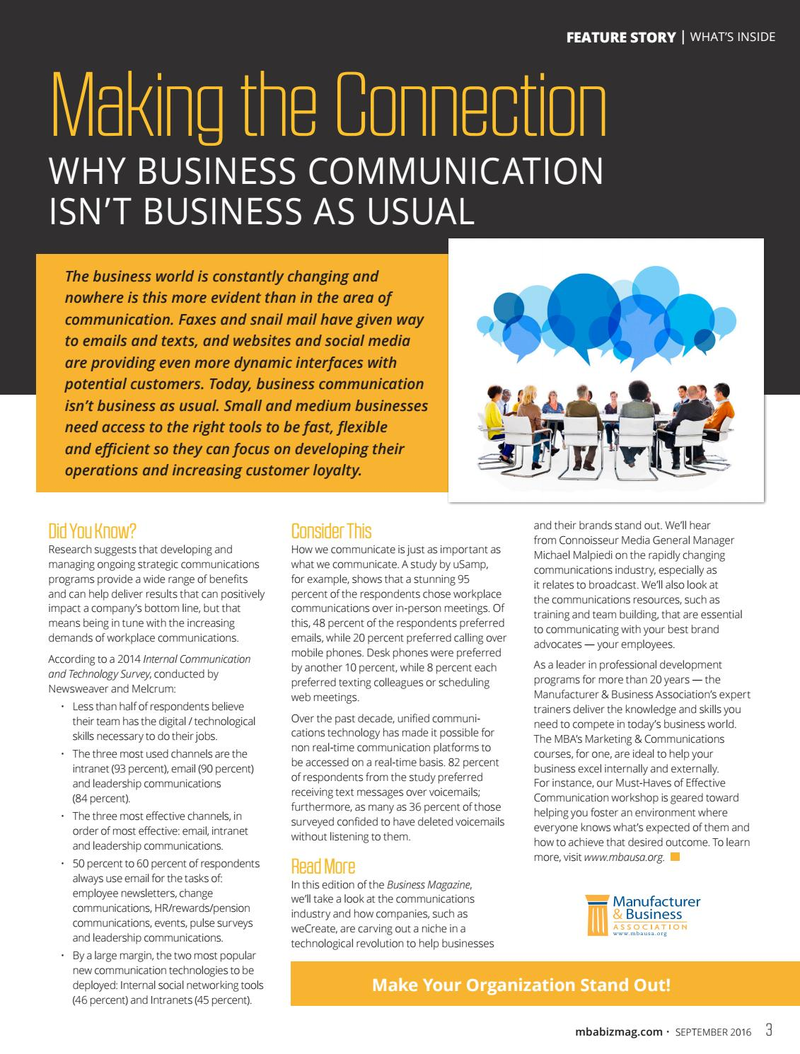 Communicating for results 2014 array september 2016 business magazine by mba business magazine issuu rh issuu fandeluxe Images
