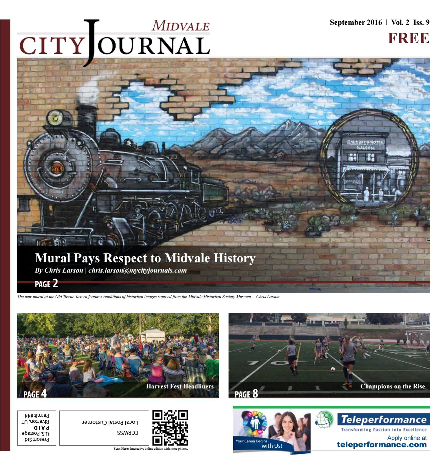 Midvale Heights Bison Celebrate >> Midvale September 2016 By My City Journals Issuu