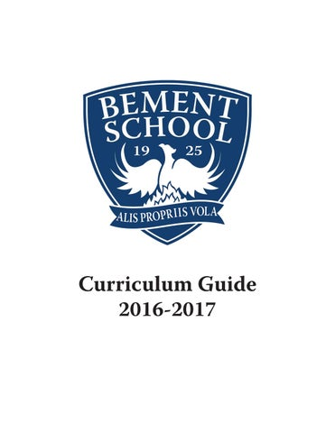 The bement school curriculum guide 2016 2017 by bement issuu page 1 fandeluxe Image collections