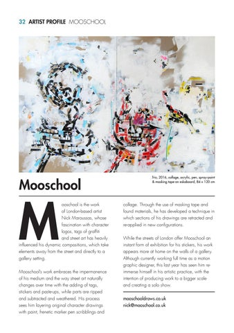 32 artist profile mooschool - Graphic Artist Profile