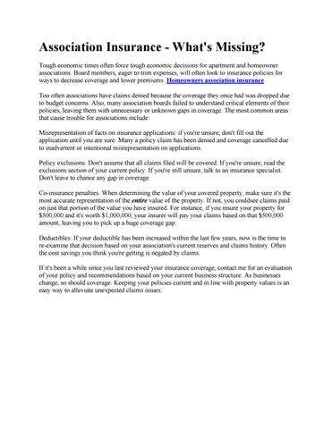 Homeowners association insurance by Anny Women's Wireless