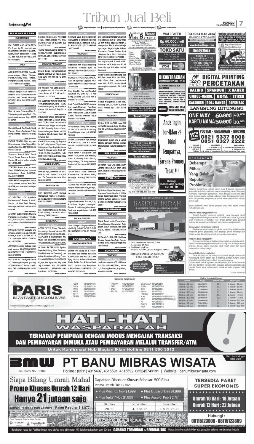 Banjarmasin Post Minggu 28 Agustus 2016 By Banjarmasin Post Issuu