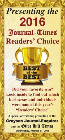 2016 Journal-Times Readers' Choice by themoreheadnews - issuu