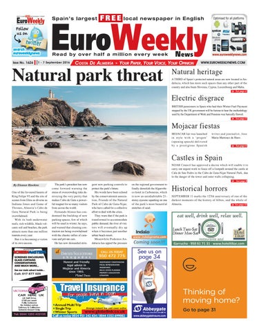 Euro weekly news costa blanca south 1 7 september 2016 issue euro weekly news costa de almeria 1 7 september 2016 issue 1626 fandeluxe Images