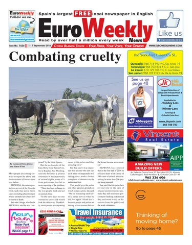 Euro weekly news costa blanca south 1 7 september 2016 issue page 1 fandeluxe Images